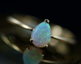 Crystal Opal set in 14 k Yellow Gold Ring Size  6 CK 645