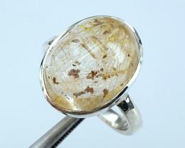 Handmade Natural Rutile Quartz Ring