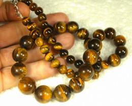 502.0 Tcw. China Tiger Eye Necklace - Gorgeous