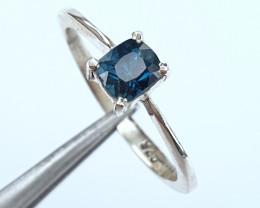 Handmade Natural indicolite Tourmaline Ring