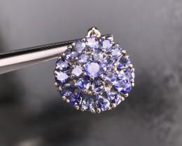 3.78 Natural Blue Tanzanite Pendant 925 Silver Set by DANI Jewellery   SKU