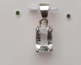 Natural Aquamarin 925 Silver Pendant