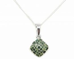 Green Diamond Pendant 0.25tcw.