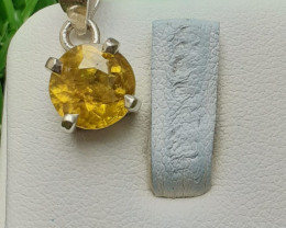 Natural Sphene 925 Silver Pendant