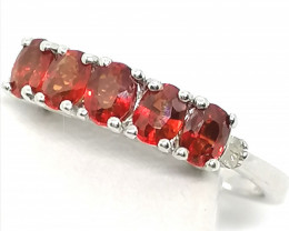 Red Sapphire and Diamond Accent Ring 1.00tcw.