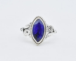 BLUE SAPPHIRE RING 925 STERLING SILVER NATURAL GEMSTONE AR1517