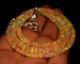 45.15 Crts Natural Welo Faceted Opal Beads Necklace 286