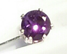 Sterling silver Hat or Lapel Pin With authentic AMETHYST,