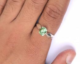 11.15 Carats Natural Mint Green Tourmaline Silver Ring