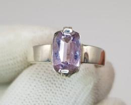 Natural Pink Kunzite Hand Made Ring