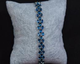 Natural 39 Pis London Blue Topaz 925 Silver Attractive  Bracelet