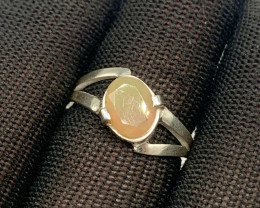 Natural 15.00 Carats fire Opal 925 Silver Ring