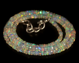 33.15 Crts Natural Welo Faceted Opal Beads Necklace 333