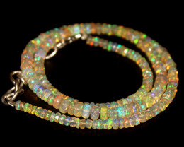 38.45 Crts Natural Welo Faceted Opal Beads Necklace 325