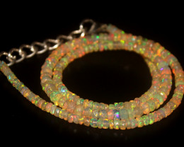 36.75 Crts Natural Welo Faceted Opal Beads Necklace 328