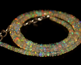 37.40 Crts Natural Welo Faceted Opal Beads Necklace 336