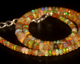50.65 Crts Natural Welo Faceted Opal Beads Necklace 337
