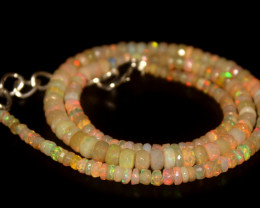 44.30 Crts Natural Welo Faceted Opal Beads Necklace 331