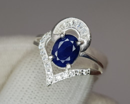 Natural Blue Opaque Sapphire Ring