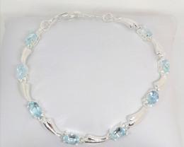 Sky Blue Topaz Bracelet 3.50tcw.