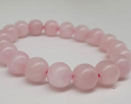 Natural Pink Rose Quartz Beads Bracelet 10mm 6inch