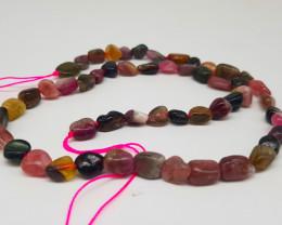 Natural Multi-color Tourmaline Beads 101.00 Carats