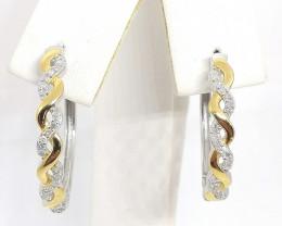 Diamond Hoop Earrings 0.25tcw.