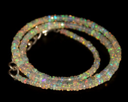 32.75 Crts Natural Welo Faceted Opal Beads Necklace 350