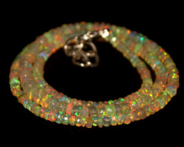 36.30 Crts Natural Welo Faceted Opal Beads Necklace 347