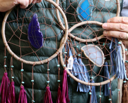 Set 3 23cm Agate Dream Catcher with Tassel code C-DREAGAT