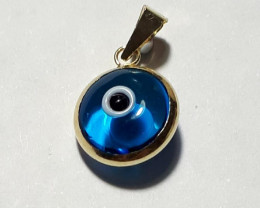 9K Gold Charm Evil Eye   Code 1910013