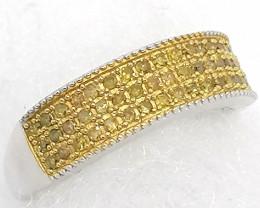 Yellow Diamond Ring  0.33tcw.