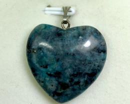 27 carat Ruby zoisite 925 silver pendant, 24x24x6mm