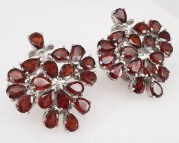 36 piece Natural Garnet Earrings