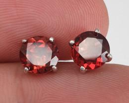 Natural Garnet Earrings.