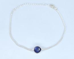 BLUE SAPPHIRE BRACELET NATURAL GEM 925 STERLING SILVER AB16