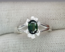 Natural Tourmaline Ring 925 Sterling Silver