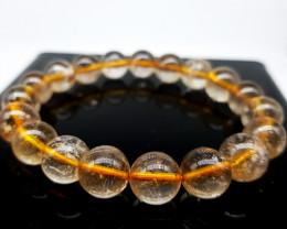Golden Rutilated Quartz Beads Bracelet