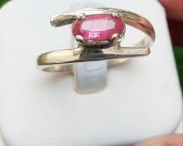 Natural Tourmaline 925 Silver Ring