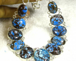 430.5 Tcw. Sterling Silver / Himalayan Turquoise Necklace - Gorgeous Natura