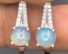 Splendid Opal & CZ Earrings