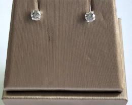 Stylish Natural Diamond Silver Earring