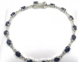 Blue Sapphire Bracelet 7.20tcw.
