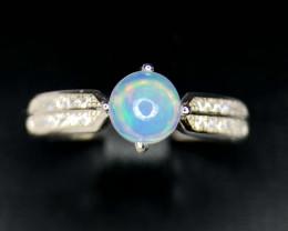 Opal-Ring-CZ Silver