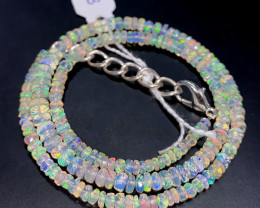 38.35 Crts Natural Welo Faceted Opal Beads Necklace 293