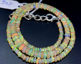 40.85 Crts Natural Welo Faceted Opal Beads Necklace 305