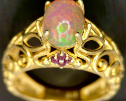 Spectacular-Opal Ring-Gold Plated