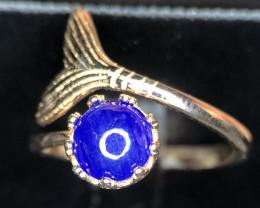 Stunning-FISH FIN-Blue Opal Ring