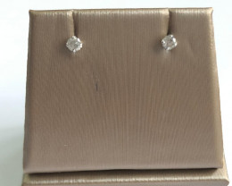 Stylish Natural Diamond 1.62 Cts  Silver Earring