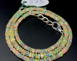 32.55 Crts Natural Welo Faceted Opal Beads Necklace 373